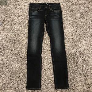 AEO Dark wash skinnny jeans